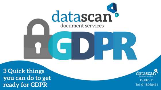 3 quick things for GDPR datascan