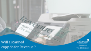will a scanned copy do for revenue_ datascan
