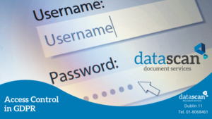 Access Control in GDPR datascan