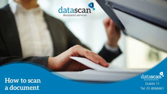 How to scan a document datascan