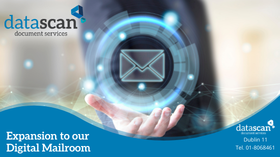 Expansion to our Digital Mailroom datascan